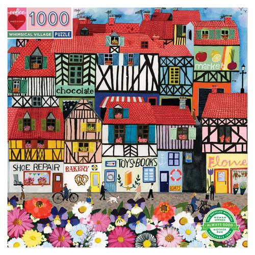 EEBOO - Whimsical Village 1000 pc Puzzle
