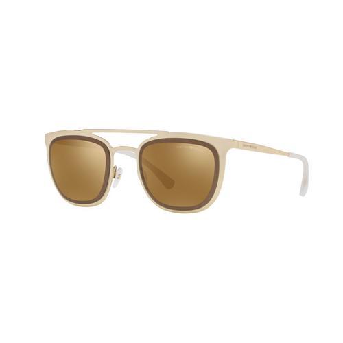 EMPORIO ARMANI Pale Gold Brown Mirror Bronze Male Sunglasses
