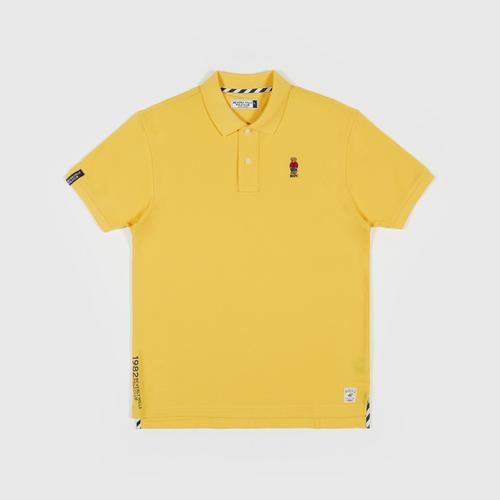 BEVERLY HILLS POLO CLUB Polo Shirt with Logo YELLOW Size 3XL