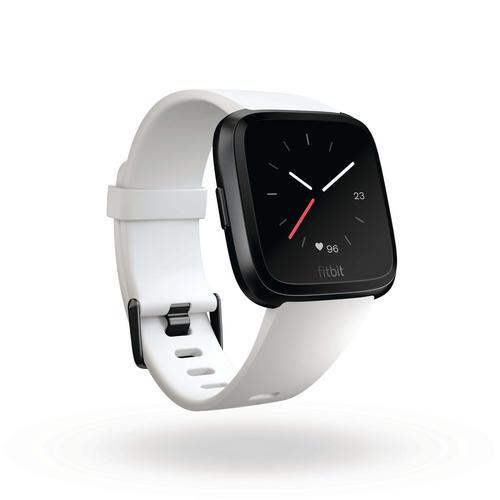 Fitbit Versa™ White Band/Black Aluminum Case EU
