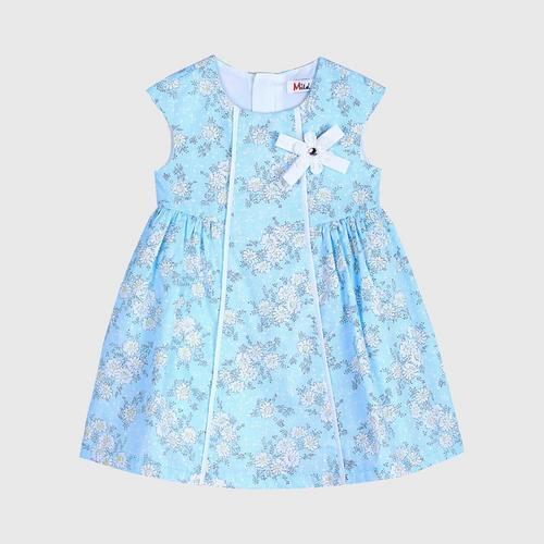 LITTLE WACOAL Dress Skirt with bow pattern (Blue)