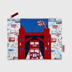 Cath Kidston London Applique Pouch Small London Map Stone