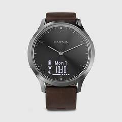 GARMIN Vivomove HR Premium  运动手表 Black/Silver (Large) 56.5克