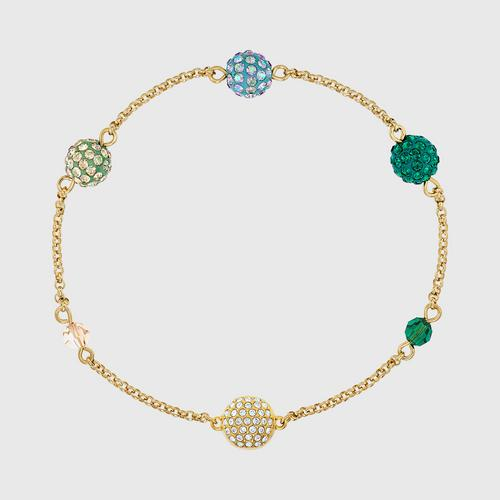SWAROVSKI Remix Collection Pop Strand, Green, Gold-tone plated - Size S
