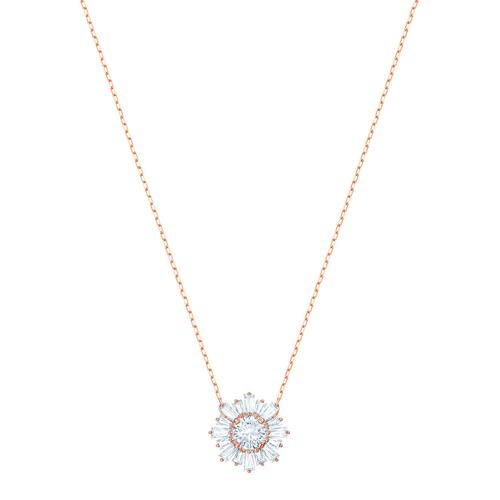 SWAROVSKI Sunshine Pendant, White, Rose-gold tone plated