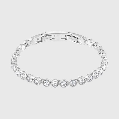 SWAROVSKI Tennis Bracelet, White, Rhodium plated - Size M