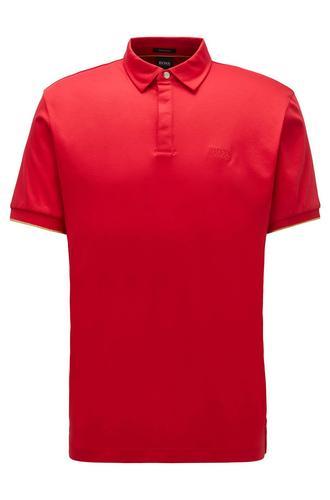 服装HUGO BOSS Pleins 45 Men's Polo Shit (Red) Size M