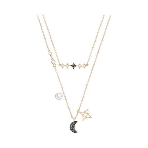 SWAROVSKI Symbolic Moon Necklace Set, Multi-colored, Mixed Plating