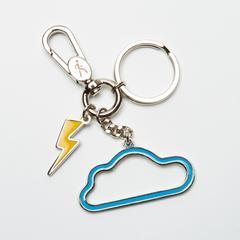 Mahanakhon SkyWalk Cloud and Thunderbolt Metal Keychain