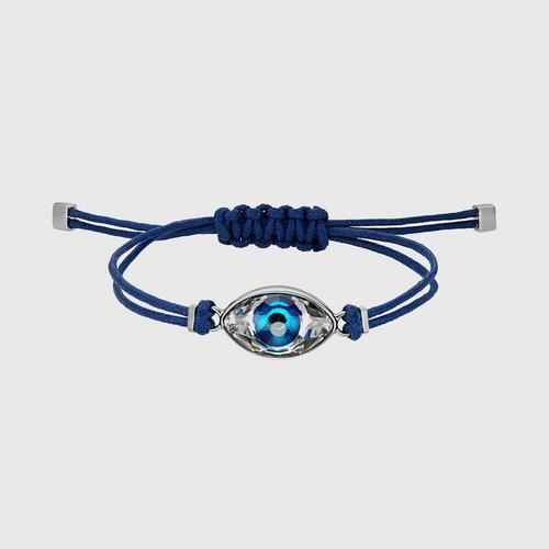 SWAROVSKI Power Collection Evil Eye Bracelet, Blue, Stainless steel - Size M