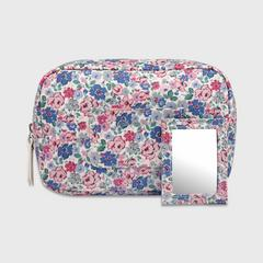 Cath Kidston Oval Cosmetic Bag with Mirror Mews Ditsy Off White