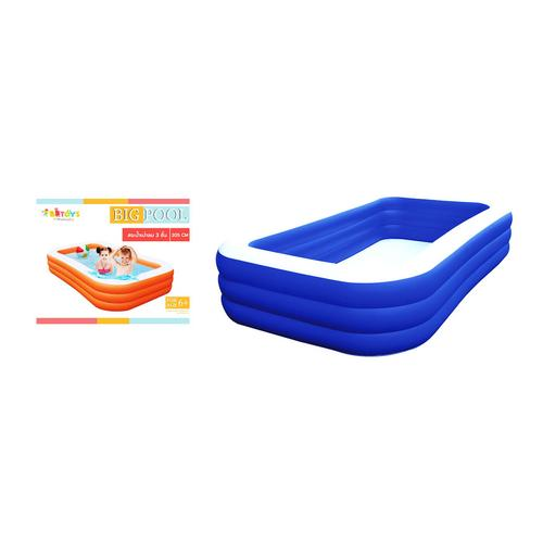 BB TOY  Swimming pool size 2.05 meter x 3 layers blue.