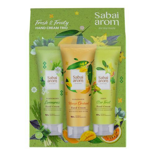 SABAI AROM Fresh & Fruity Hand Cream Trio 75 g x 3