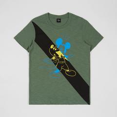 Disney Teen Men T-Shirt Mickey-B6 Green-XS