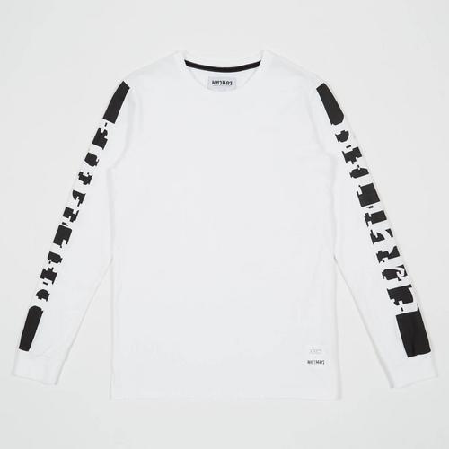 Mahanakhon Typo Long Sleeves T-shirt White S