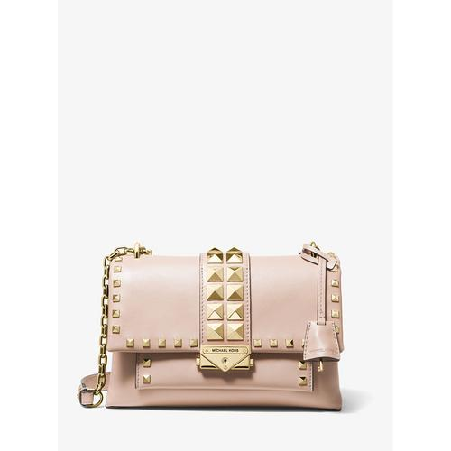MICHAEL KORS Cece Medium Studded Leather Convertible Shoulder Bag - SOFT PINK