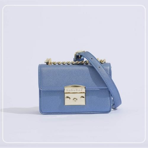 BUBUBEE BON BON BOX BAG (BLUE) W17 x H12 x D8.5 CMS