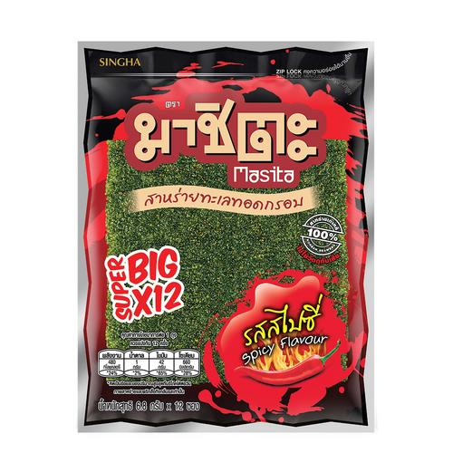 Masita Fried Super Big Seaweed 81.6 g - Spicy Flavor