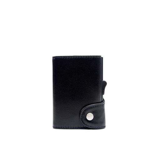 C-SECURE RFID Classic Leather Wallet Nero Black/Black XL Card holder