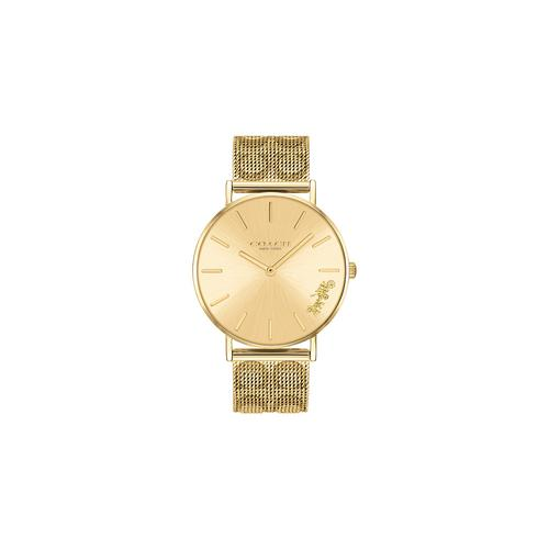 COACH 36mm Perry Gold Mesh Ladies Watch