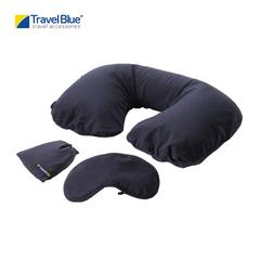 Travel Blue TB223 Inflatable Travel Pillow & Eyemask Sleep Set - Blue