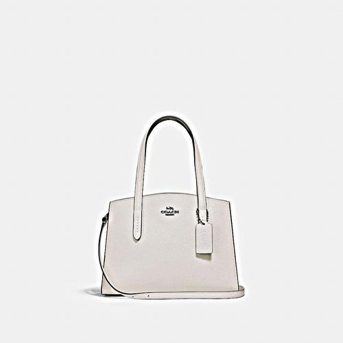COACH Polished Pebble Leather Charlie 28 Carryall - GM/Chalk
