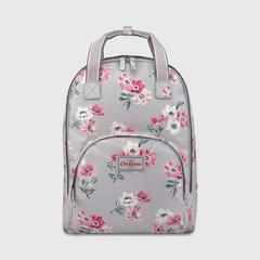 Cath Kidston Multi Pocket Backpack Small Anemone Bouquet Grey