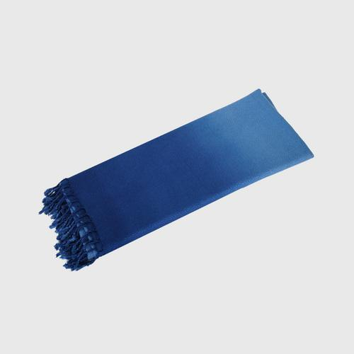 BAI MONE - Crystal Ball Khit Shawl  Indigo - Light indigo Size: 70 x 180 cm.
