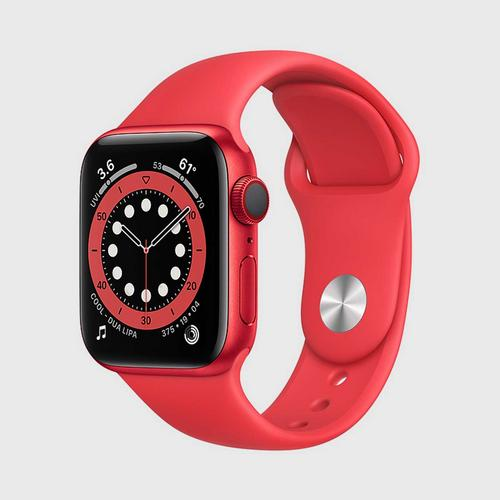 Apple Watch Series 6 (GPS + Cellular) (PRODUCT) Red Aluminum Case  with (PRODUCT) Red Sport Band(40mm)