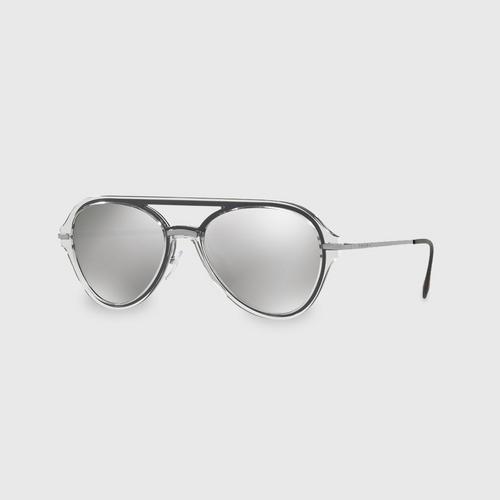 PRADA SPORT Grey Pilot Men Sunglasses 0PS 04TS MQG2B0 (57 MM)