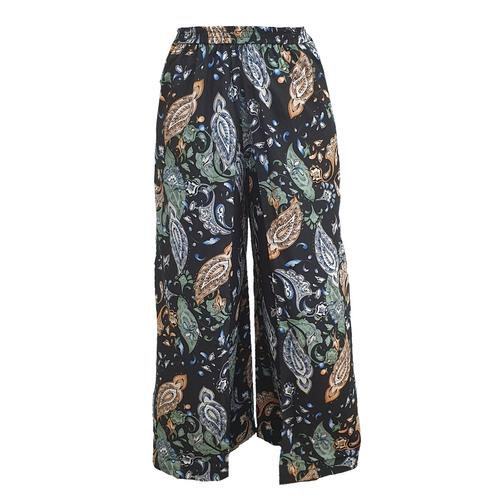 WATER SCENT  WIDE LEG PANTS CLASSIC - BLACK (Free Size)