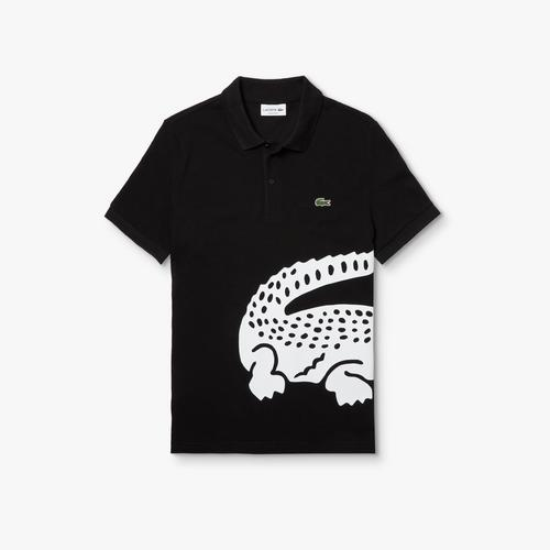 LACOSTE Men's Lacoste Regular fit Oversized Crocodile Print Polo Shirt - 3