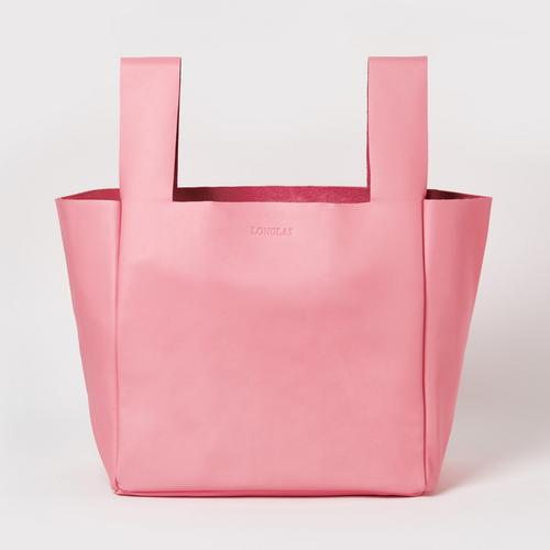LONGLAI JEKYLL & HYDE LARGE TOTE BAG BLUSH PINK