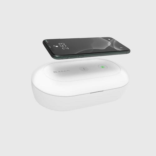 ADAM ELEMENTS OMINA UVC+ - UV Ozone Sterilizer Box with Fast Wireless Charger - White