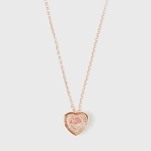 PICA LÉLA Amour Heart  18K Rose Gold Plating With Pink Crystal