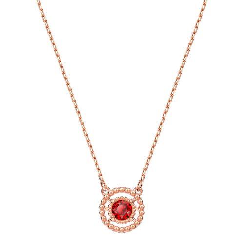 SWAROVSKI Oxygen Necklace, Red, Rose-gold tone plated
