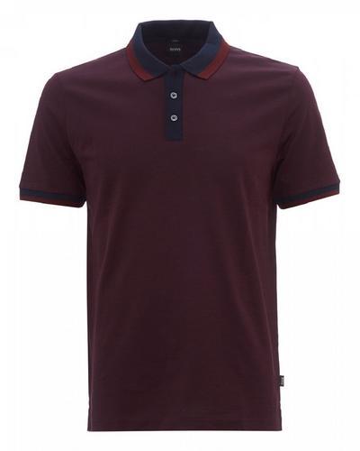 服装HUGO BOSS Philipson 66 Polo Shirt (Burgundy) Size S
