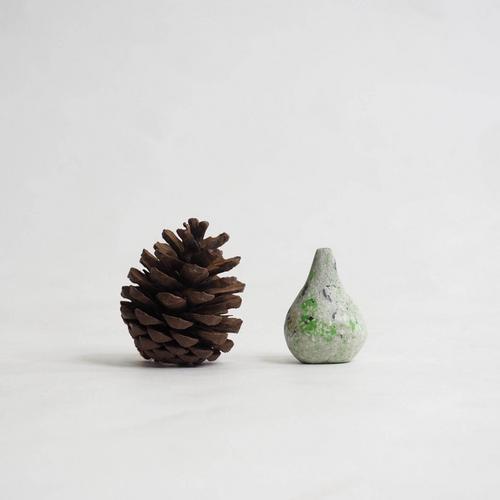 103 Paper mini vase Size S Gray & green