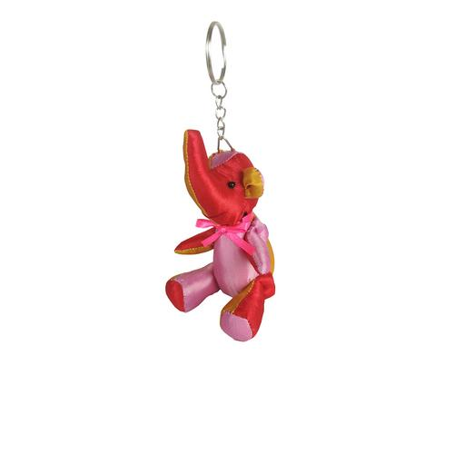 @PRAEWA elephant keychain 7.5 cm (red tone )