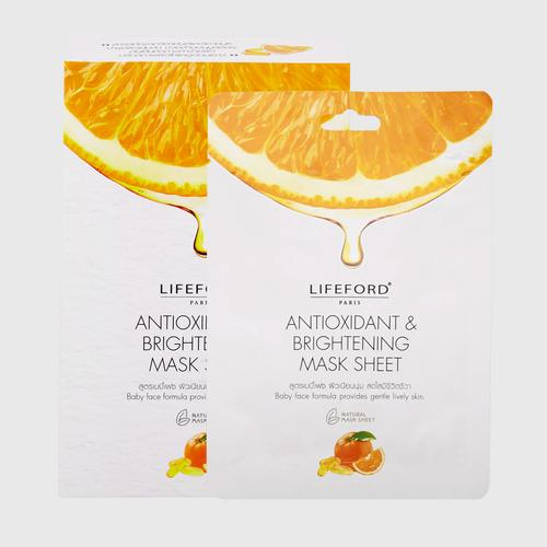 LIFEFORD(乐福 巴黎) 美白面膜 6片  PARIS ANTIOXIDANT & BRIGHTENING MASK SHEET 14 g x  6 sachets