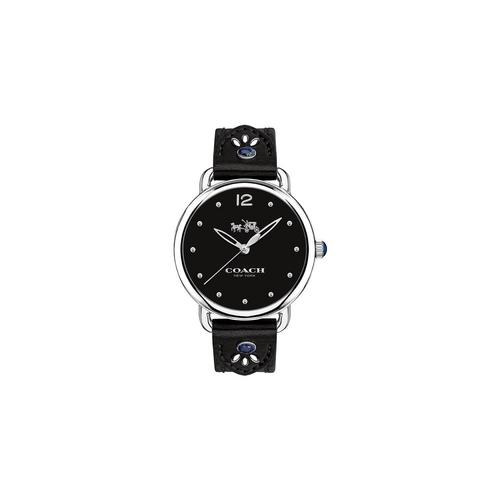 COACH 36 mm. Delancey Stainless Steel Studded Leather Strap Watch