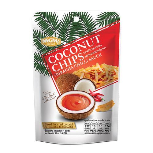 MARKETGATEWAY Coconut Chips (Sriracha Chilli Sauce Flavor) 40G.