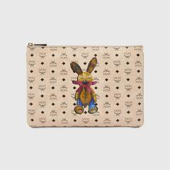 MCM Rabbit Crossbody Pouch in Visetos Medium