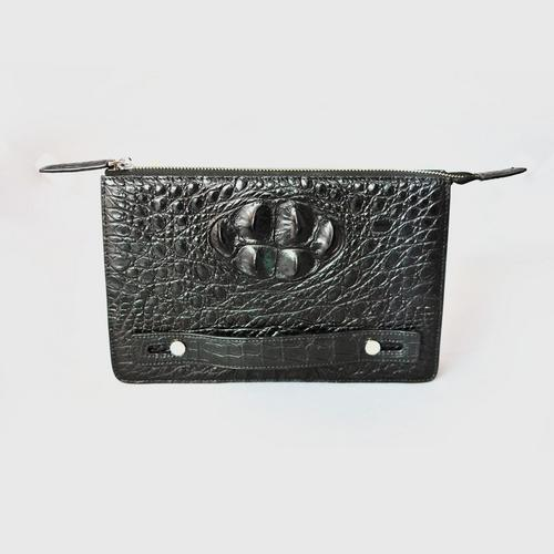 JK Clutch Bag with Black Hornback Skin - Model 96