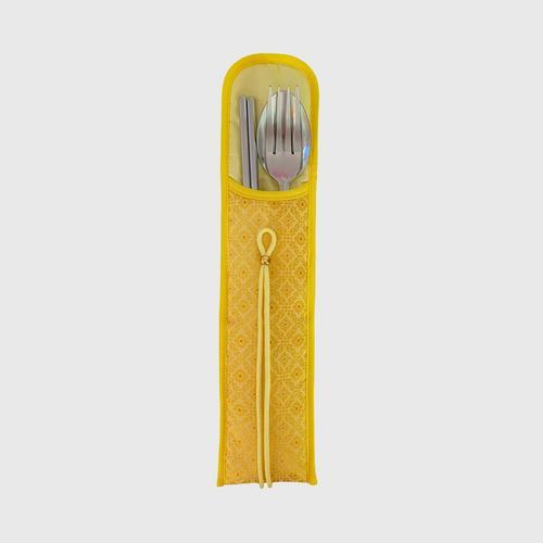 KACHA Utensil Pocket Silk - Yellow