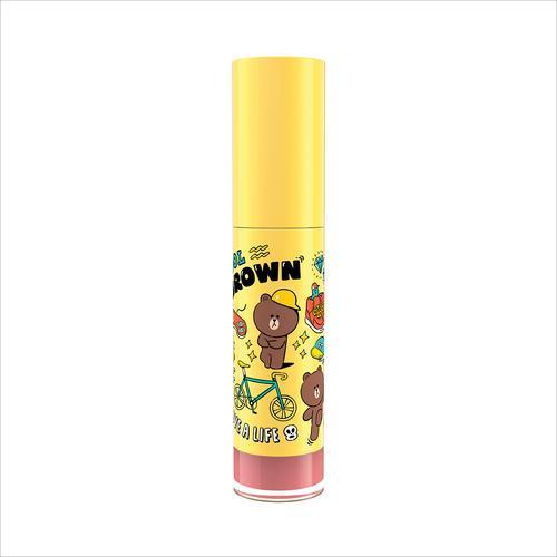 MILLE Line Friends l Mille Iconic Matte Liquid Lip #01 Brown