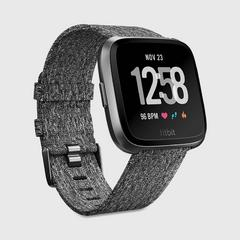 FITBIT Versa™ Watch - Chacoal Woven/Graphite Aluminum