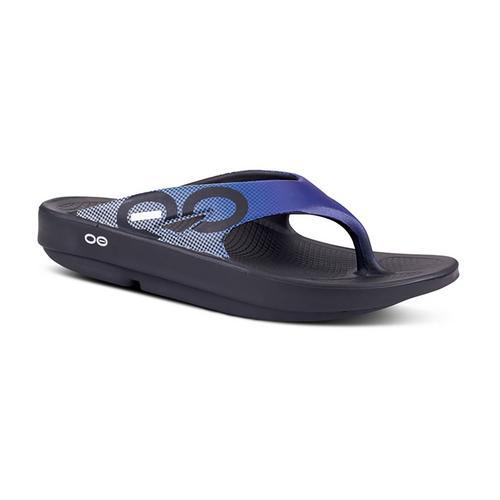 OOFOS OoSport Blue Grid M7/W9/40