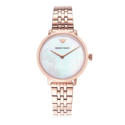 EMPORIO ARMANI Modern Slim Analog Rose Gold Stainless Steel Watch