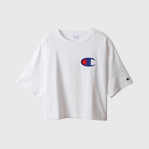 CHAMPION Women'S Wide T-Shirt White Size M
